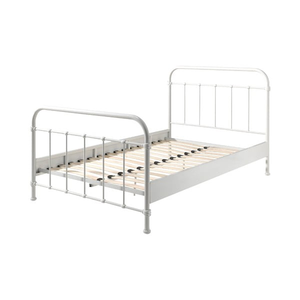 Bílá kovová dětská postel Vipack New York, 120x200cm