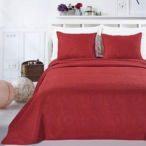 Set pled din microfibră și față de pernă DecoKing Elodie, 170 x 210 cm, roșu