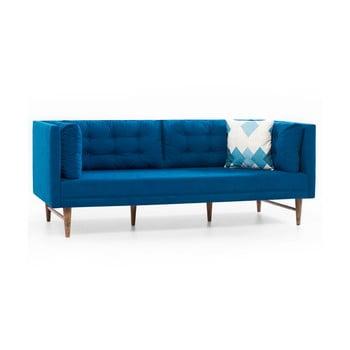 Canapea cu 3 locuri Balcab Home Eva, albastru