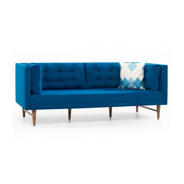 Home Eva kék háromszemélyes kanapé - Balcab