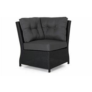 Rohový díl černé zahradní sedačky Brafab Soho