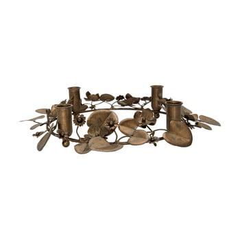Sfeșnic metalic pentru Crăciun Green Gate, ø 36 cm, arămiu imagine