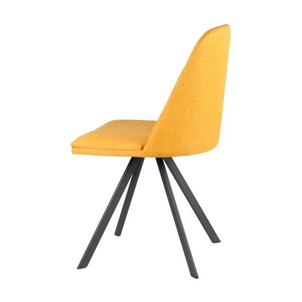 Set 4 scaune sømcasa Cris, galben