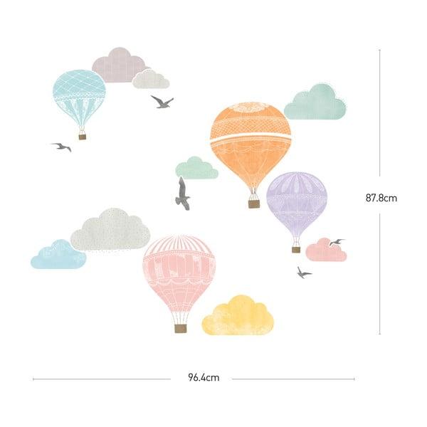 Set autocolante Ambiance Montgolfier