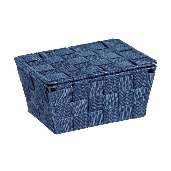 Coș cu capac Wenko Adria, albastru închis