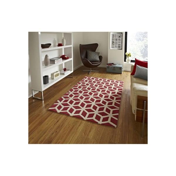 Koberec Flat 80x150 cm, červený