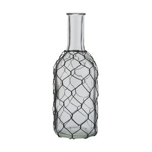 Skleněná lahev Clayre & Eef Transparent, výška 22 cm
