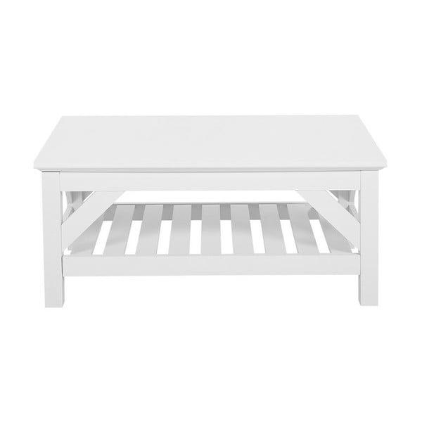 Biały stolik z białym blatem Monobeli Klause, 60x101 cm