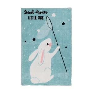 Modrý dětský koberec Obsession Bunny, 170 x 120 cm