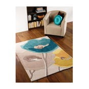 Koberec Poppy Flair Rugs Poppy Teal, 80 x 150 cm