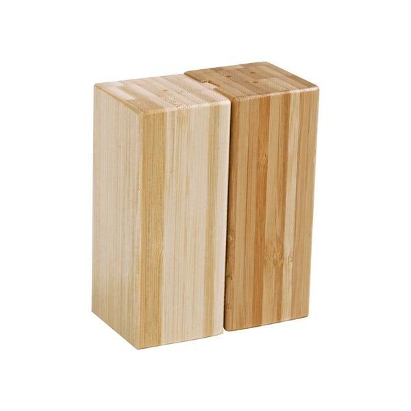 Modern bambusz só- és borsszóró szett