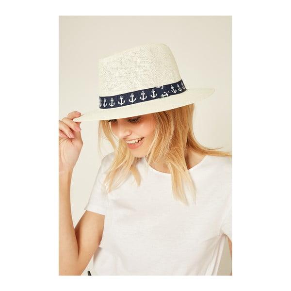 Krémovobiely dámsky slamený klobouk Alexander McKensey Anchor