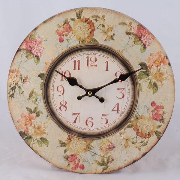 Dřevěné hodiny Roses