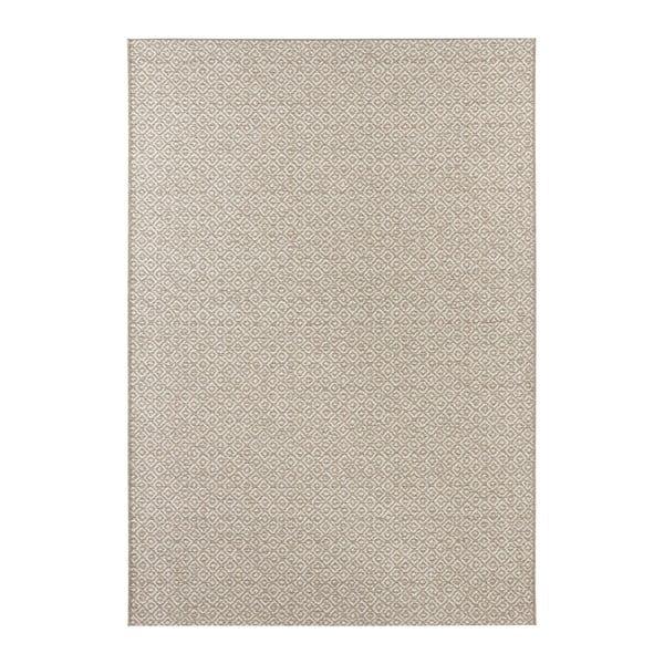 Béžovo-krémový koberec vhodný i na ven Elle Decor Bloom Croix, 80 x 150 cm