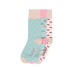 Sada 3 párů barevných ponožek Funky Steps Geometria, vel. 35-39