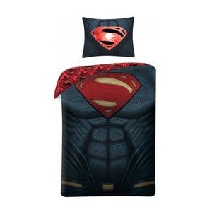 Černé bavlněné dětské povlečení Halantex Superman, 140 x 200 cm
