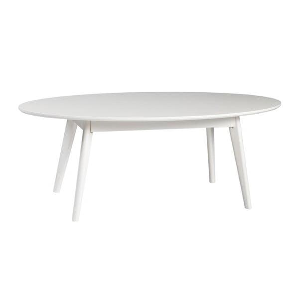 Bílý konferenční stolek z březového dřeva Rowico YuRAi , 130x65m