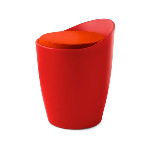 Stolička Otto do interiéru i exteriéru, červená