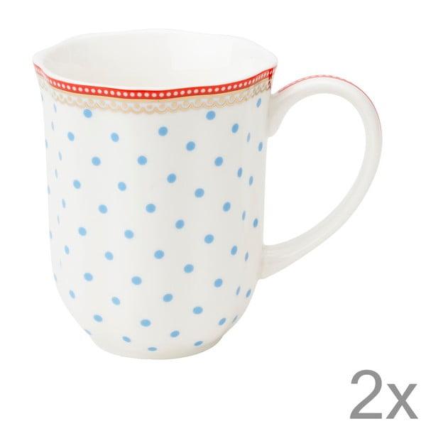 Porcelánový hrnek na kávu Seaside Dot od Lisbeth Dahl, 2 ks
