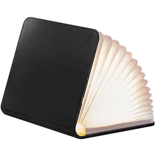 Čierna LED stolová lampa v tvare knihy Gingko Large