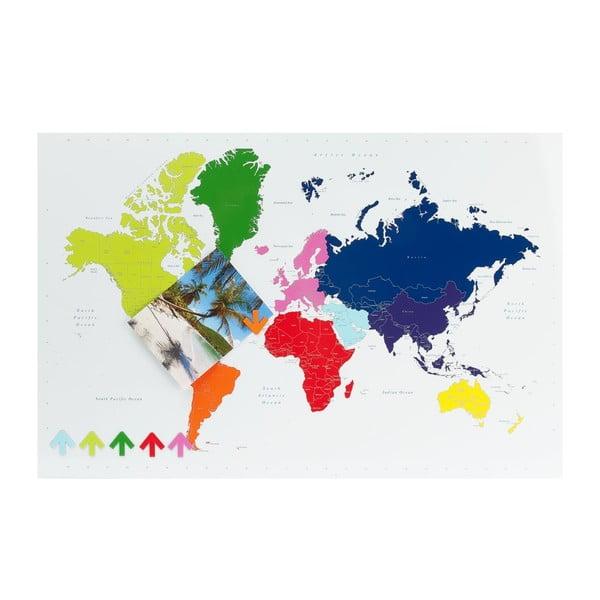 Nástěnka Worl Map se 6 magnetky