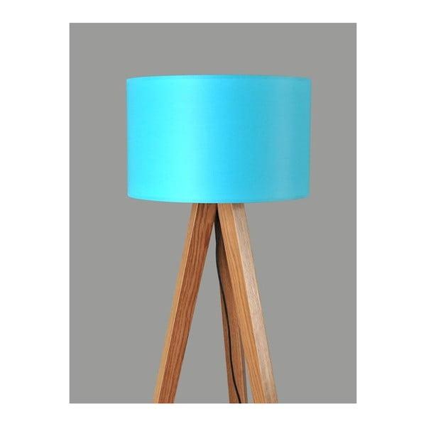 Stojací lampa Tripod Blue/Walnut