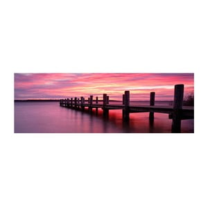Obraz na skle Západ slunce, 30x90 cm