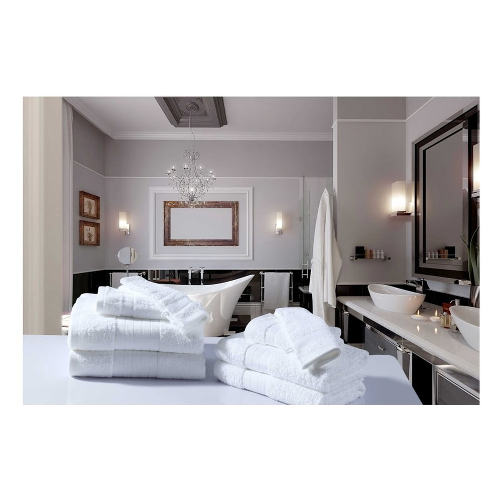 Koupelnový set osušek a rukavic z bavlny Muller Textiels Recto