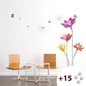 Set samolepky a 15 Swarovski krystalů Ambiance Rainbow Flowers