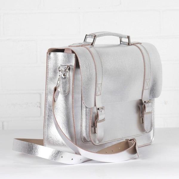 Kabelka Boho Briefcase, silver