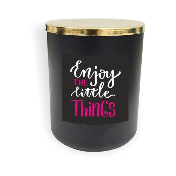 Černá svíčka North Carolina Scandinavian Home Decors Motto Glass Candle V1