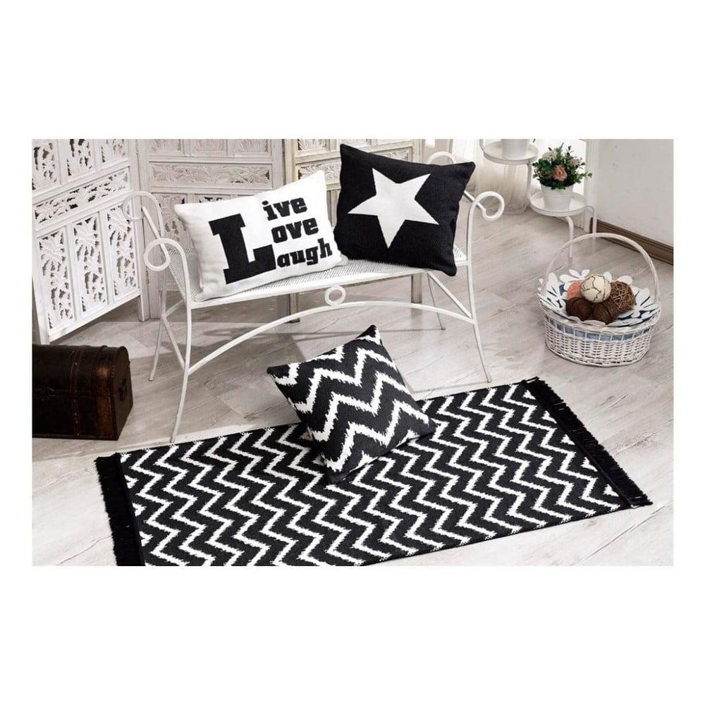 Oboustranný koberec Armada Seti Zigzag,150x80cm