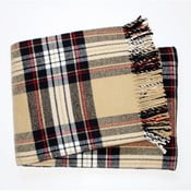Béžová károvaná deka Euromant Scott, 140x180cm