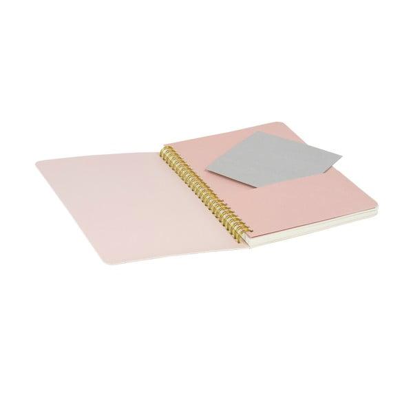 Zápisník Tri-Coastal Design Stockholm Spiral, růžový