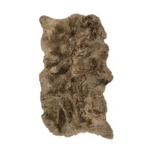 Hnědý kožešinový koberec s dlouhým chlupem Arctic Fur Janna, 180x120cm