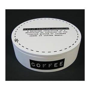 Krabička na kávu  White Coffee, 17 cm