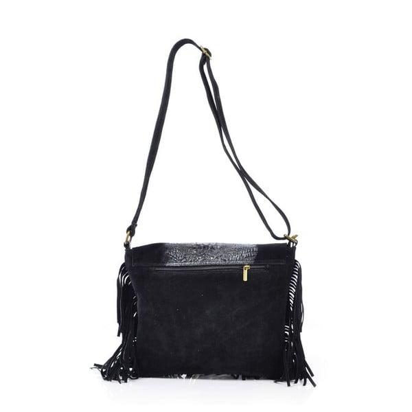 Kožená kabelka Madhia, černá