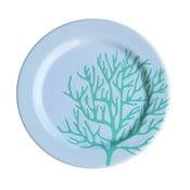 Set 6 farfurii din melamină Sunvibes Corail Bleu, ⌀ 25 cm