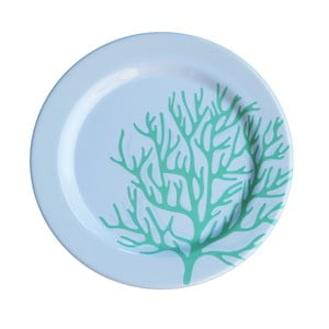 Sada 6 melaminových talířů Sunvibes Corail Bleu, ⌀ 25 cm
