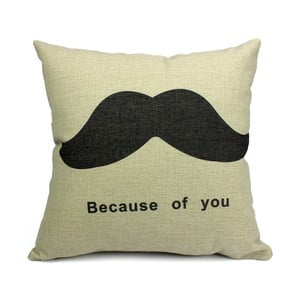 Polštář Mustache, 45x45 cm