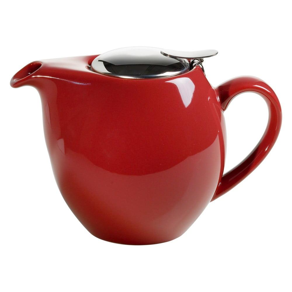 Červená kameninová konvice se sítkem na čaj Maxwell & Williams Infusions T, 1 l