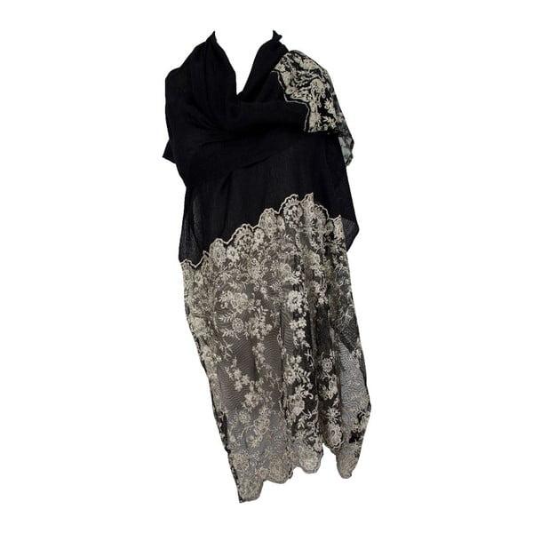 Šátek Romy Black/Grey