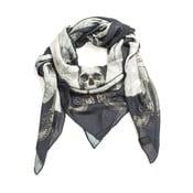 Vlněný šátek s kašmírem Guns Navy, 130x130 cm