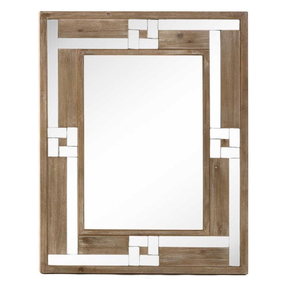 Zrcadlo s dřevěným rámem Tropicho