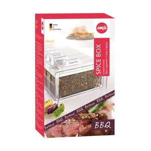 Box na koření s 6 přihrádkami Spice Box, na grilování