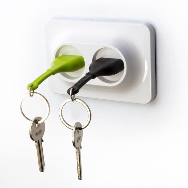 Věšák na klíče Unplug Key Ring, zelená/černá