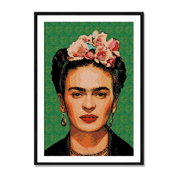 Tablica ścienna z drewna samba Madre Selva Frida Draw, 40x60 cm
