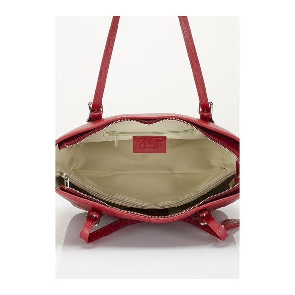 Vínová kožená kabelka Lisa Minardi Arianna