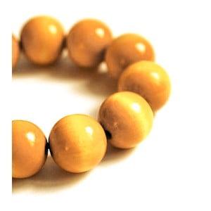 Žlutý dřevěný náramek Ko–ra–le Bubbles