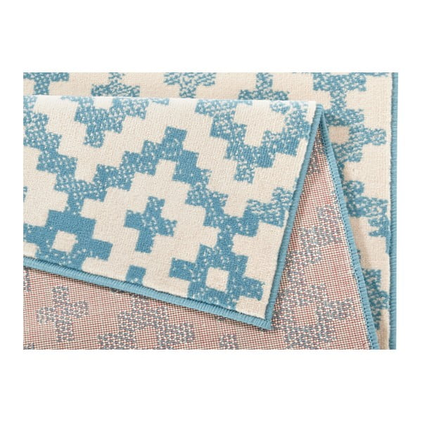 Modrobílý koberec Hanse Home Kramla, 70x140cm